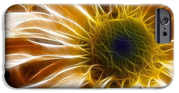 Best Sellers -  - Floral Digital Art Digital Art iPhone Cases - Supernova iPhone Case by Adam Romanowicz