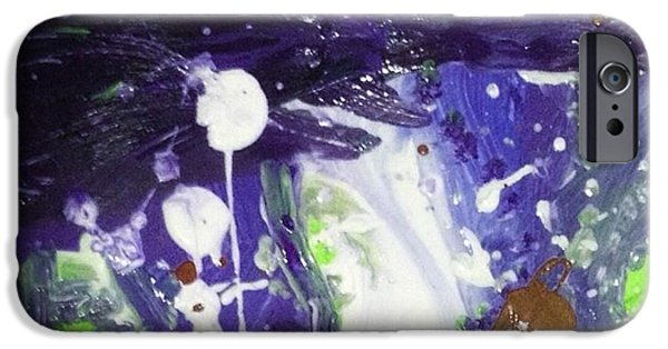 Supernova Paintings iPhone Cases - Supernova sky iPhone Case by Michelle Hynes