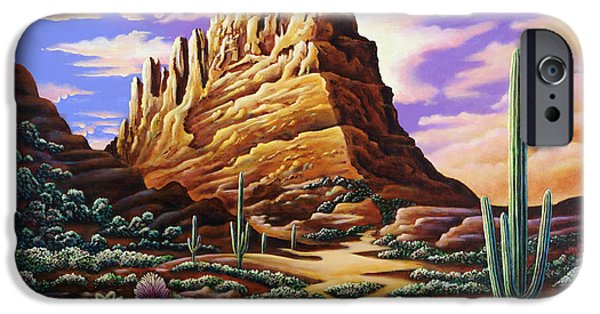 Poetic Photographs iPhone Cases - Superstition Mountains iPhone Case by Andy Russell