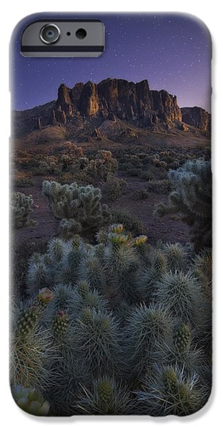 Peter James Nature Photography iPhone Cases - Superstitious Twilight iPhone Case by Peter Coskun