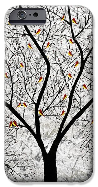 Tree Roots Paintings iPhone Cases - Supper time iPhone Case by Sumit Mehndiratta