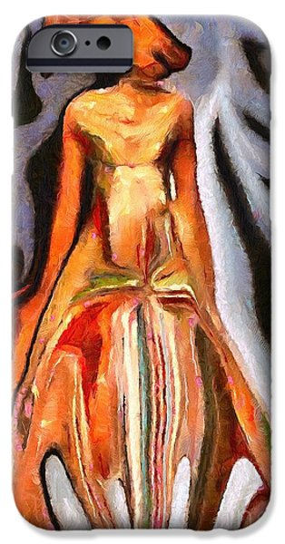 Catherine White Digital Art iPhone Cases - Support Style iPhone Case by Catherine Lott