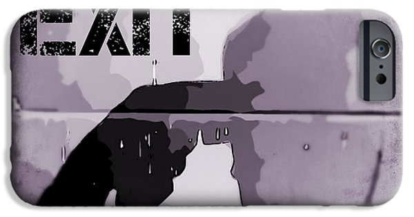 Disorder Mixed Media iPhone Cases - Sure Signs of Depression iPhone Case by John Malone Halifax photographer