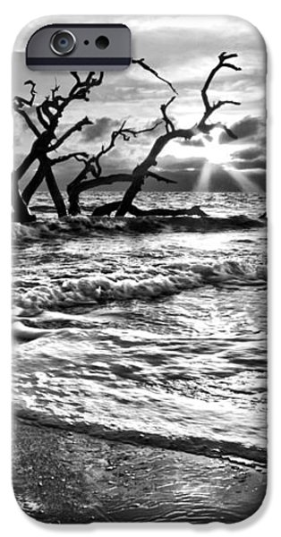 Surf at Driftwood Beach iPhone Case by Debra and Dave Vanderlaan