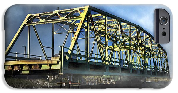 Cutler iPhone Cases - Surf City NC Swing Bridge iPhone Case by Betsy A  Cutler