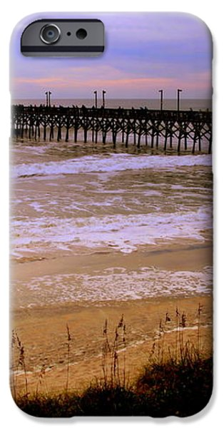 SURF CITY PIER iPhone Case by KAREN WILES