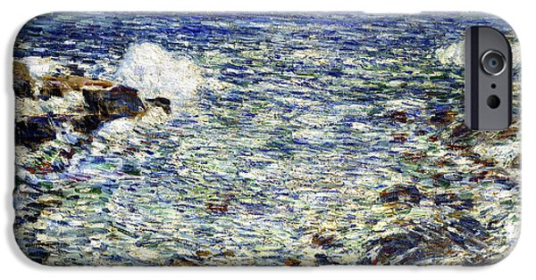 Hassam iPhone Cases - Surf iPhone Case by Frederick Childe Hassam