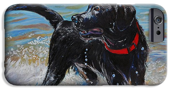 Ocean iPhone Cases - Surf Pup iPhone Case by Molly Poole