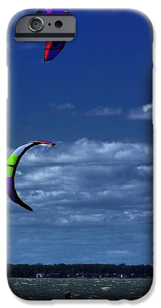 Kite Boarding iPhone Cases - Surf Sails iPhone Case by Robert McCubbin