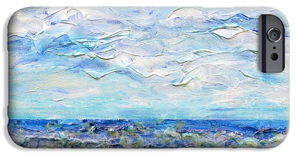 Ocean Reliefs iPhone Cases - Surf Study iPhone Case by Regina Valluzzi