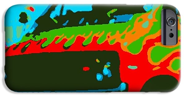Etc. Digital Art iPhone Cases - Surf Wagon iPhone Case by James Eye