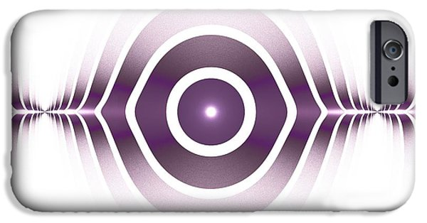 Background iPhone Cases - Surface Waves - Purple iPhone Case by Anastasiya Malakhova