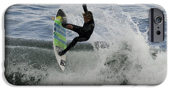 Steamer Lane iPhone Cases - Surfer 1 iPhone Case by Paul Balbas