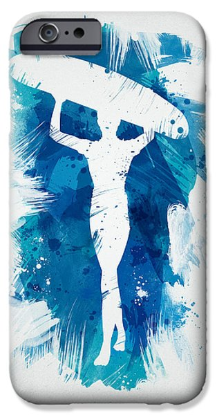 Surfer Girl iPhone Case by Aged Pixel