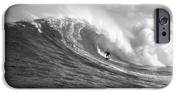 One iPhone Cases - Surfer In The Sea, Maui, Hawaii, Usa iPhone Case by Panoramic Images