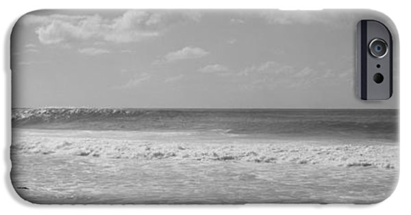 North Sea iPhone Cases - Surfer Standing On The Beach, North iPhone Case by Panoramic Images