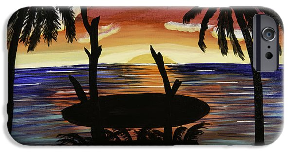 Etc. Paintings iPhone Cases - Surfers Bench iPhone Case by Donna Guzman