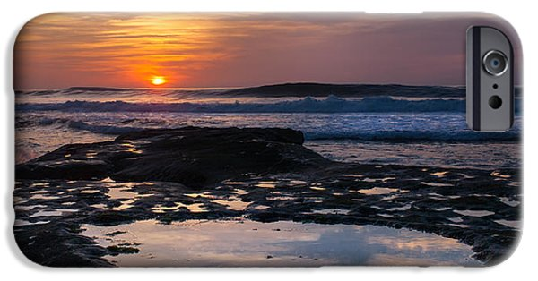 La Jolla Surfers iPhone Cases - Surfers Paradise Wide Screen iPhone Case by Peter Tellone