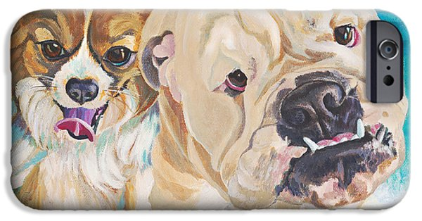 Chiwawa iPhone Cases - Surfin Dogs Laguna Beach iPhone Case by Lisa Hershman