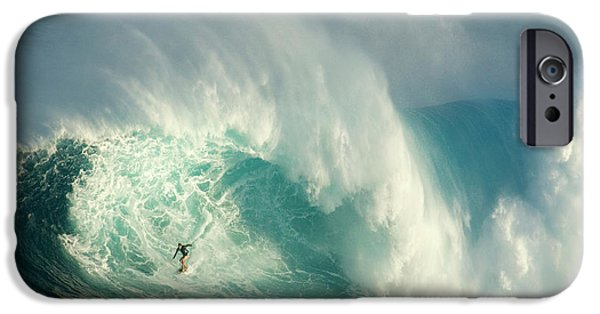 Big Waves iPhone Cases - Surfing Jaws 3 iPhone Case by Bob Christopher