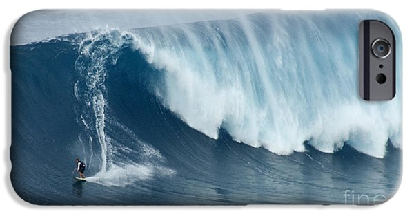 Escape iPhone Cases - Surfing Jaws 5 iPhone Case by Bob Christopher