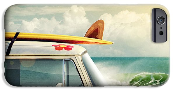 Bus Photographs iPhone Cases - Surfing Way of Life iPhone Case by Carlos Caetano