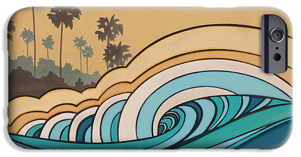 The Hills Mixed Media iPhone Cases - Surfrider I iPhone Case by Joe Vickers