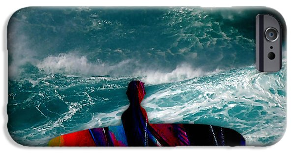 Surfer iPhone Cases - Surfs Up iPhone Case by Marvin Blaine