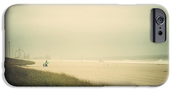 Seaside Heights iPhone Cases - Surfs Up Seaside Park New Jersey iPhone Case by Terry DeLuco