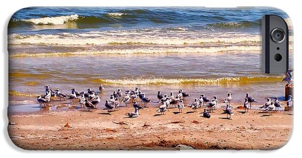 Beach Landscape iPhone Cases - Surfside beach Texas iPhone Case by Chris Flees