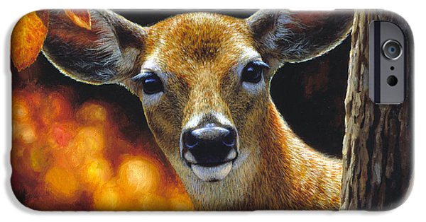 Wild Animals iPhone Cases - Whitetail Deer - Surprise iPhone Case by Crista Forest