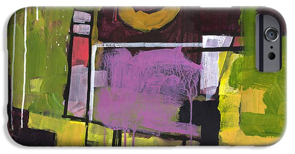 Abstract Expressionist iPhone Cases - Surprise Garden iPhone Case by Douglas Simonson