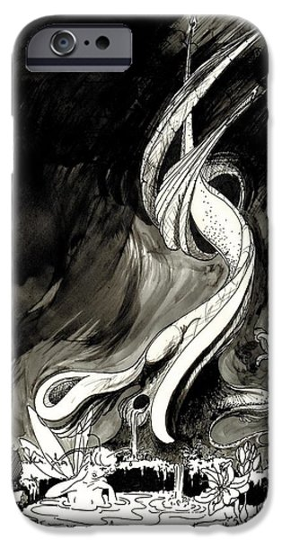 Printmaking iPhone Cases - Surprise iPhone Case by Julio R Lopez Jr