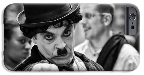 Charlie Chaplin iPhone Cases - Surprise iPhone Case by Louis Dallara