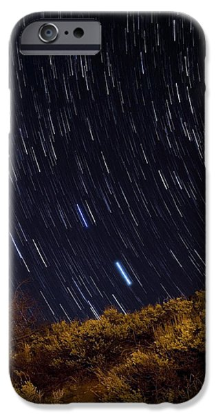 Surprise Trailhead Startrails iPhone Case by Benjamin Reed