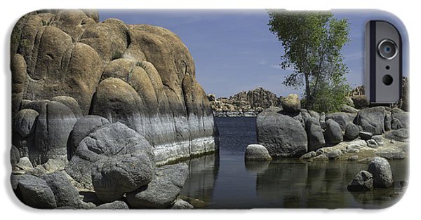 Watson Lake iPhone Cases - Surreal Beauty iPhone Case by Lorraine Harrington