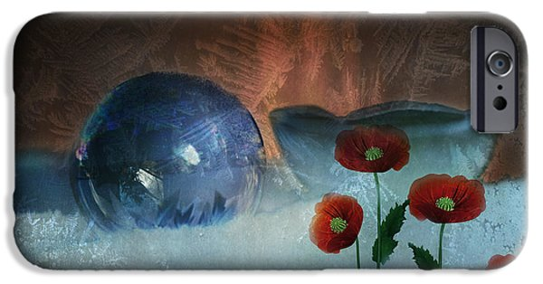 Out Of This World iPhone Cases - Surreal Ice Poppies iPhone Case by Terry Fleckney