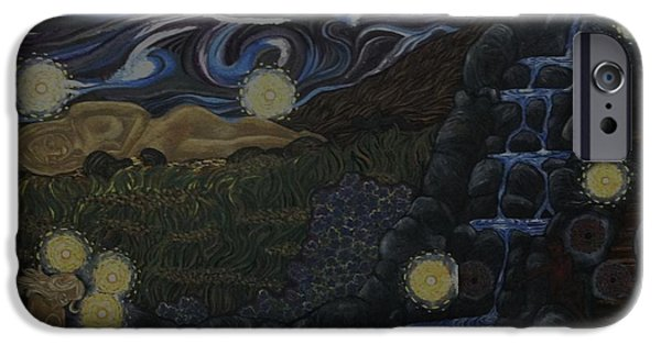 Recently Sold -  - Night Angel iPhone Cases - Surreal iPhone Case by Lisa Vulliet