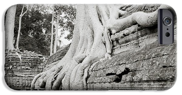 Eerie iPhone Cases - Surreal Ta Prohm  iPhone Case by Shaun Higson