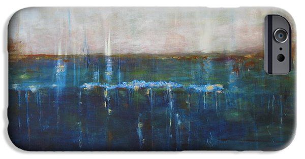 Abstract Seascape iPhone Cases - Surrender iPhone Case by Kathy Stiber
