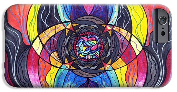 Mandalas iPhone Cases - Surrender iPhone Case by Teal Eye  Print Store