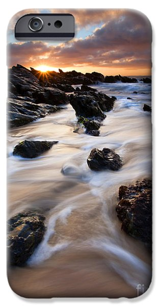 Seascapes iPhone Cases - Surrounded by the Tides iPhone Case by Mike  Dawson