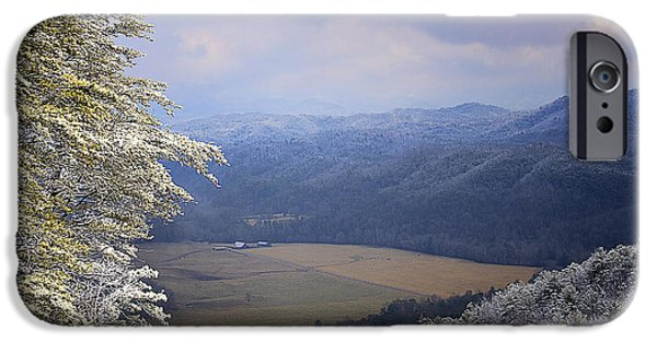 Pines iPhone Cases - Surrounding Mountains iPhone Case by Rhonda McClure