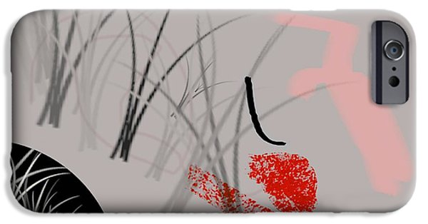 Abstract Digital iPhone Cases - Survival iPhone Case by Diana Angstadt