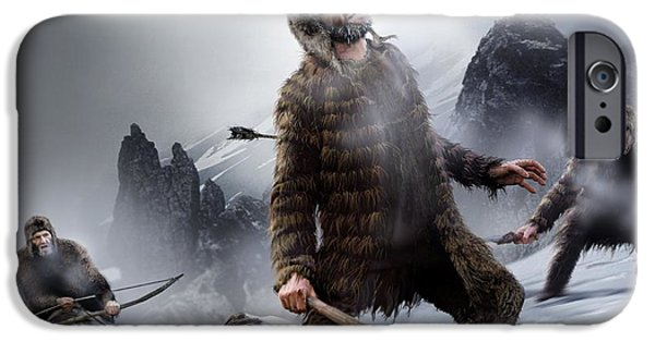 Human Survival iPhone Cases - Survival Of The Fittest, Artwork iPhone Case by Wieslaw Smetek