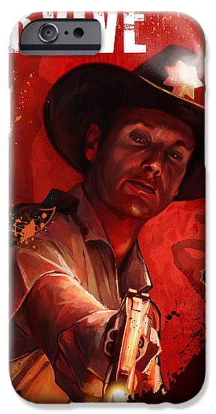 Celebrities Art iPhone Cases - Survive iPhone Case by Steve Goad