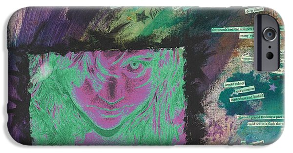 Abstract Collage Drawings iPhone Cases - Survivor iPhone Case by Renee  Gaudet