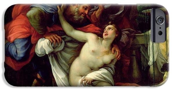 Book Of Daniel iPhone Cases - Susanna and The Elders iPhone Case by Giuseppe Bartolomeo Chiari