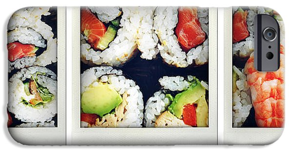 Meal iPhone Cases - Sushi iPhone Case by Les Cunliffe