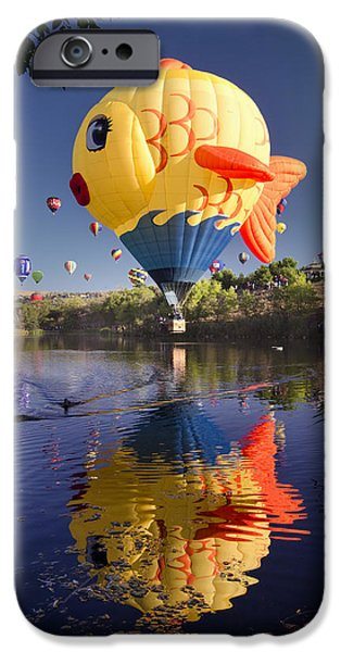 Hot Air Balloon iPhone Cases - Sushi iPhone Case by Sean Foster
